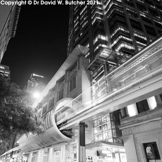Monorail at the Galeries on Pitt Street, Sydney