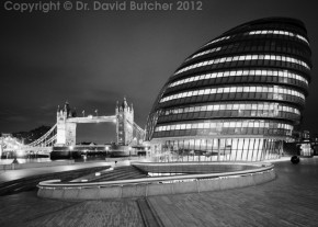Tower Bridge and London City Hall at Night