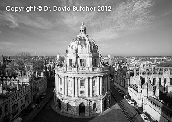 Oxford Radcliffe Camera from St Mary's Church Tower