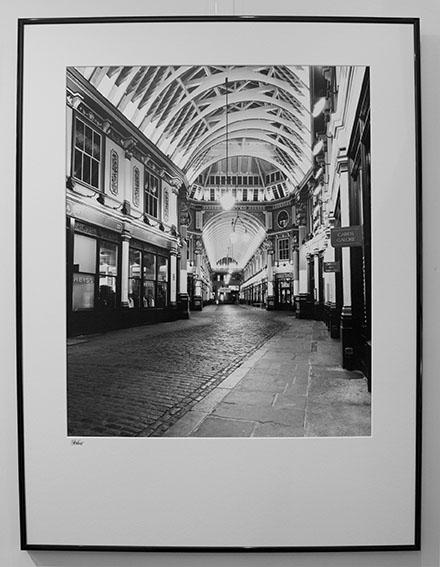 Leadenhall Market at Night, framed
